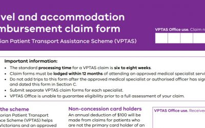VPTAS – The Victorian patients and carers guide to claiming accommodation subsidies