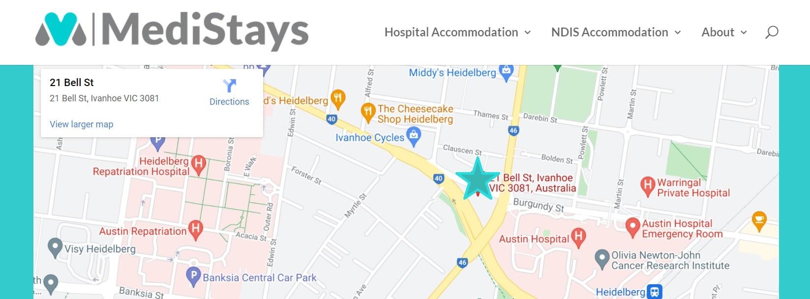 Austin Hospital Map